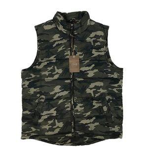 Weatherproof Vintage Camo Full-Zip Puffer Vest